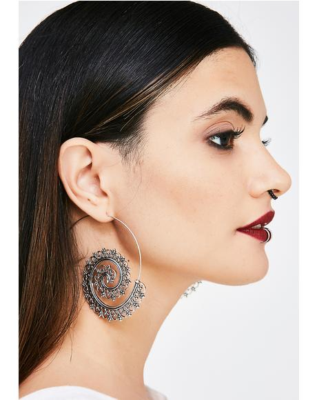 World Traveller Swirl Earrings