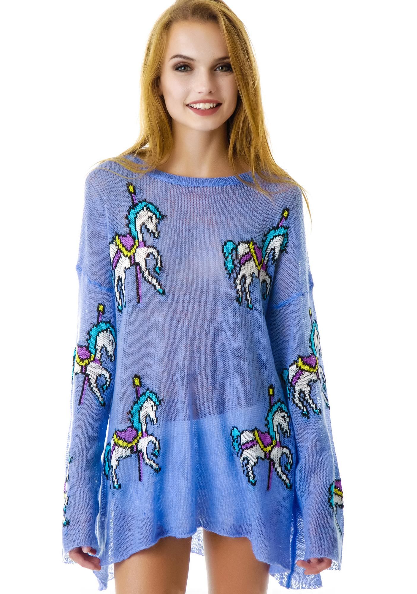 Wildfox Couture Carousel Pony Ringo Sweater