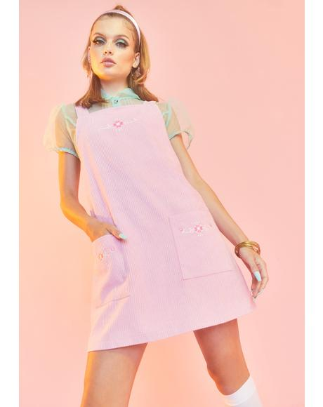 Budding Beauty Pinafore Dress