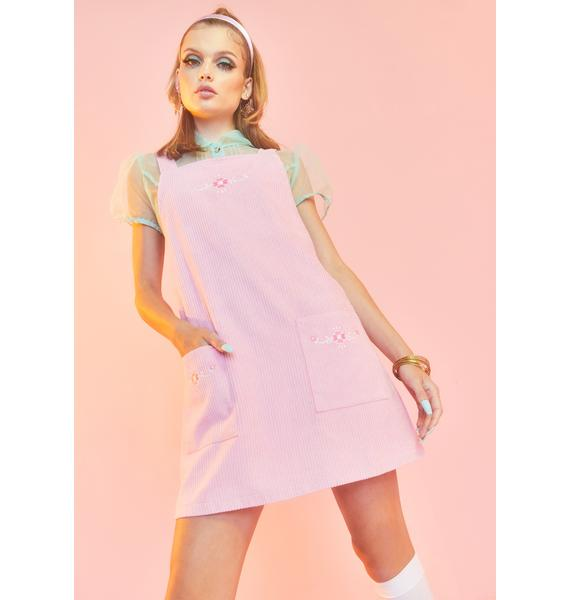 Sugar Thrillz Budding Beauty Pinafore Dress