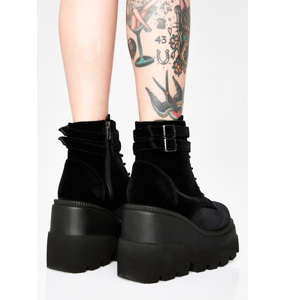 Demonia Velvet Technopagan Boots