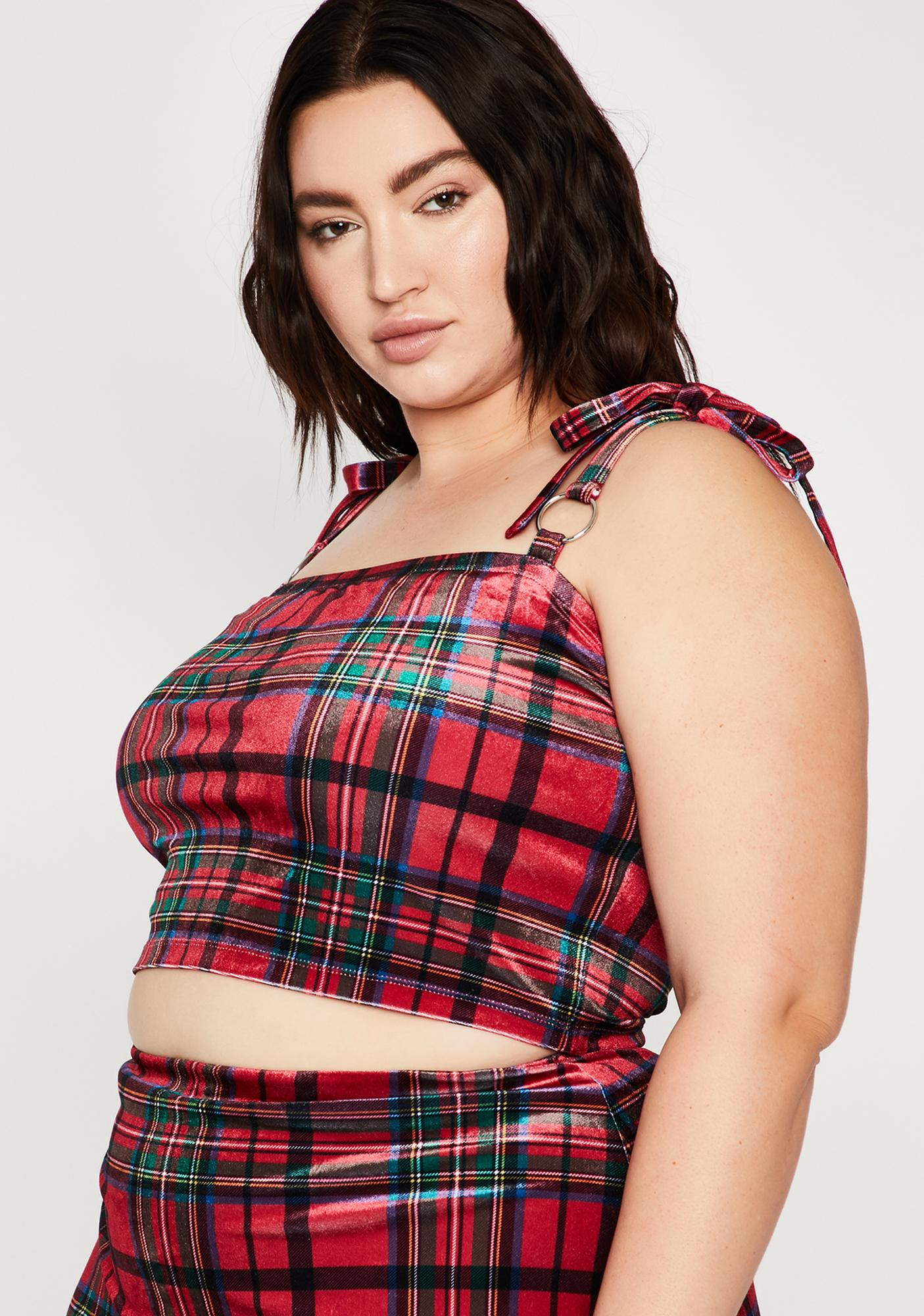 Current Mood Pretty Past Lovers Plaid Top