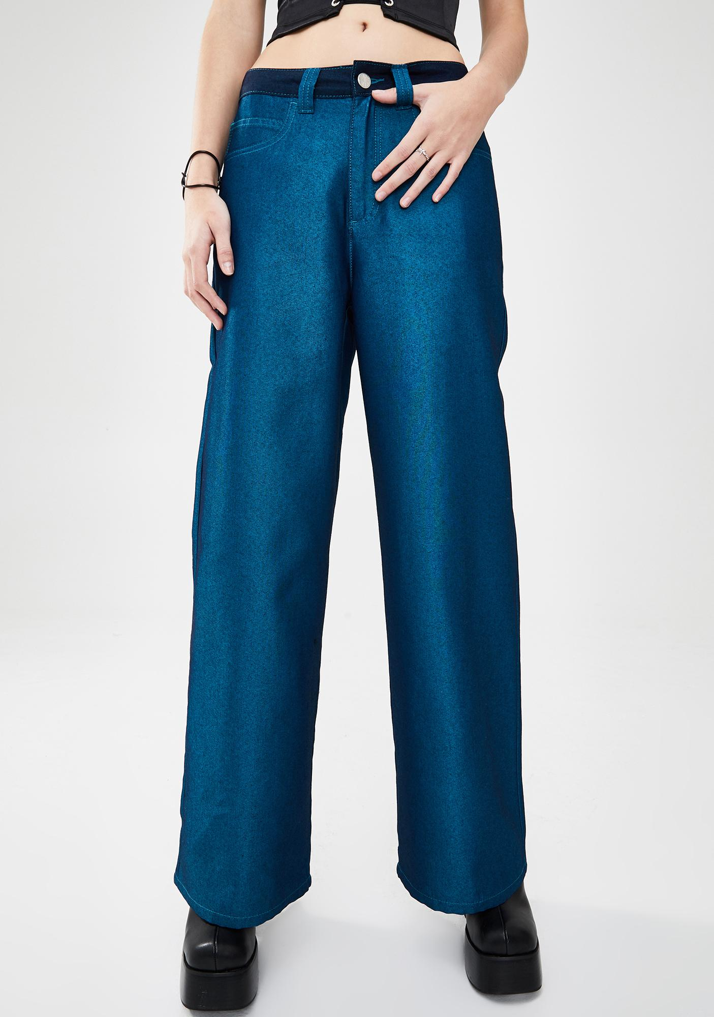 dELiA*s by Dolls Kill Thousand Miles Wide Leg Jeans