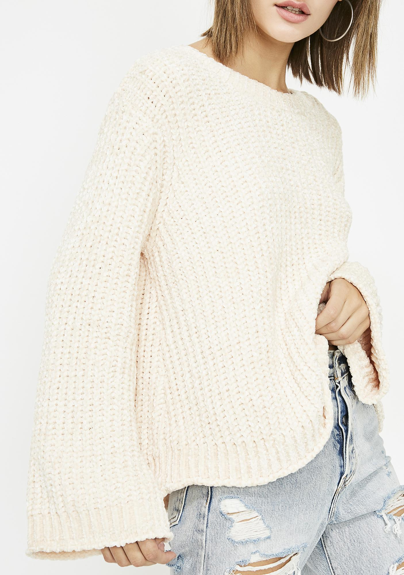Honey Trap Chenille Sweater