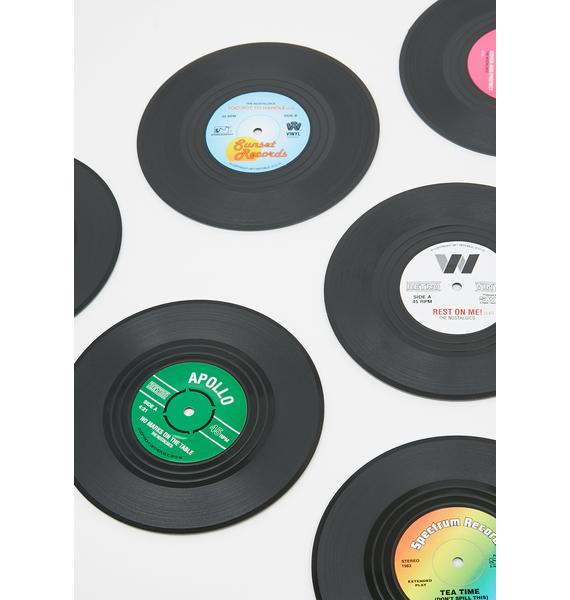 Put Some Records On Coaster Set