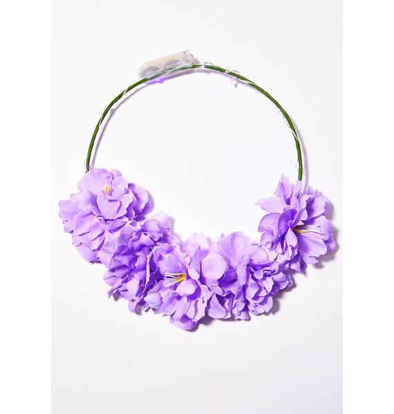 J Valentine Light-Up Flower Crown