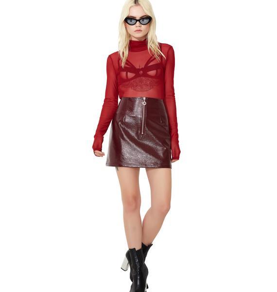Glamorous Sweet N' Salty Front Zip Skirt
