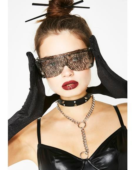 Eyes Wide Shut Lace Glasses