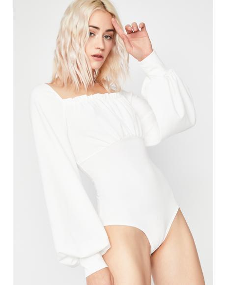 Saint Renaissance Love Lace-Up Bodysuit