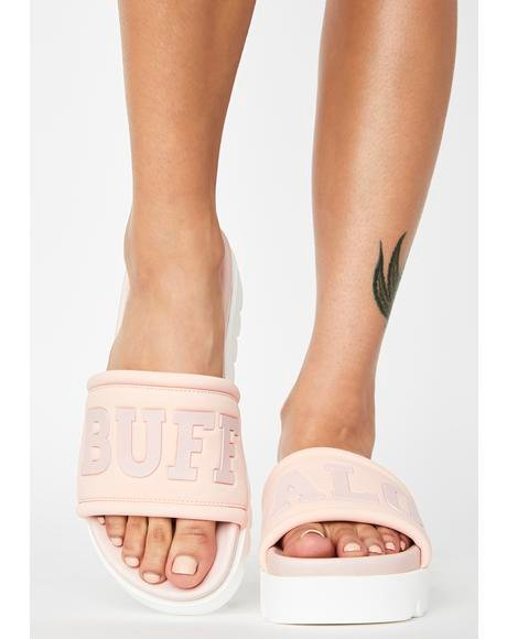 Light Pink Edona Platform Slides