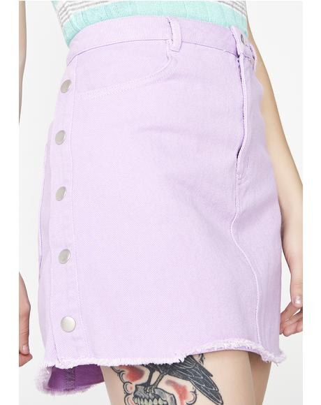 Lavender Let Me Shine Denim Skirt
