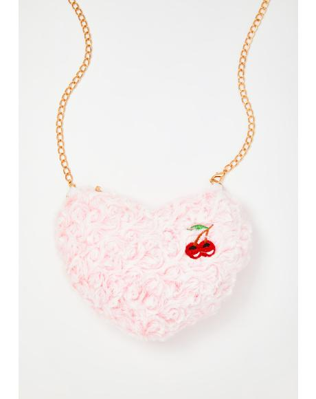 Sweetest Delight Fuzzy Crossbody Bag