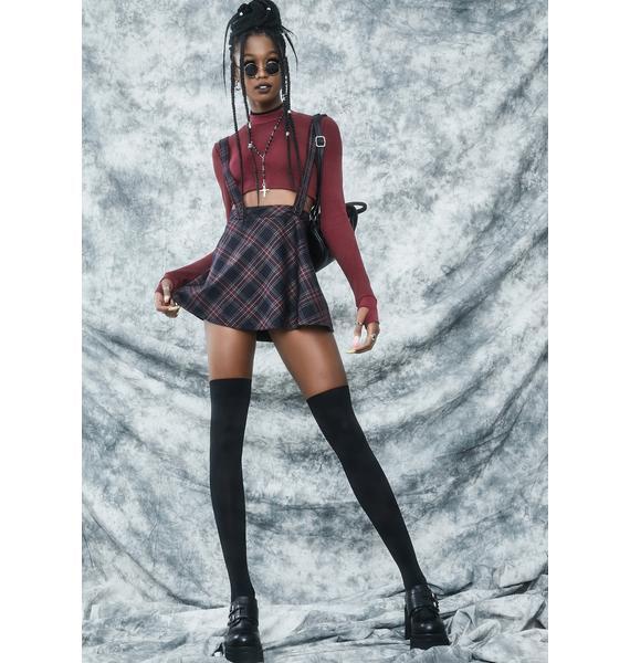 dELiA*s by Dolls Kill Ties That Bind Suspender Skirt