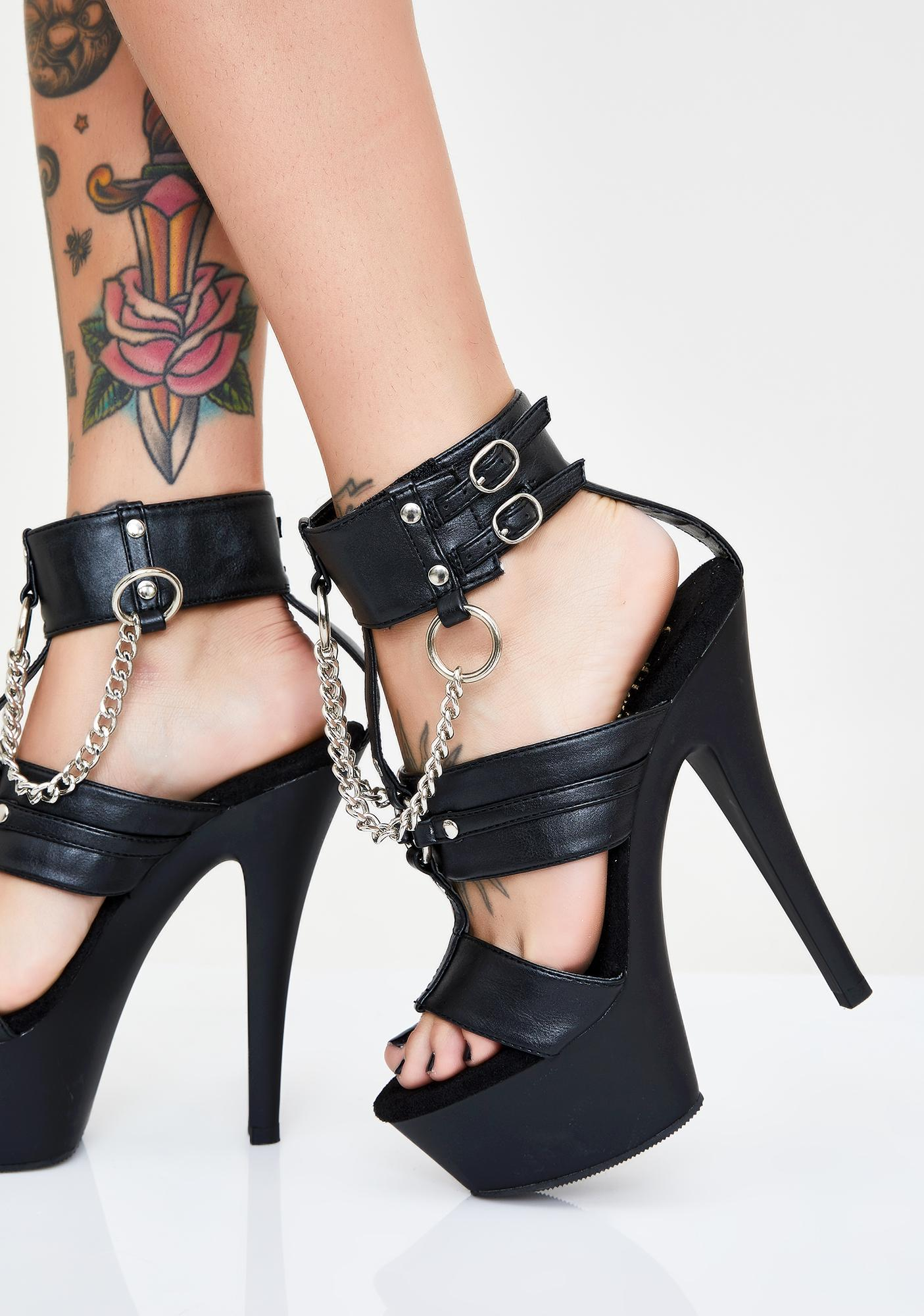 Pleaser Bondage Baddie Platform Heels