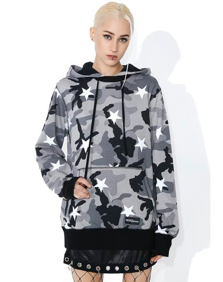Camo Stars Pullover Hoodie