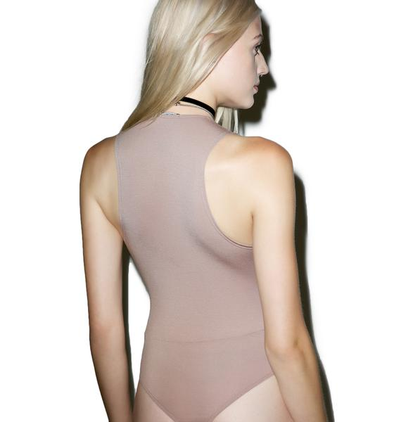Olympia Theodora Tousled Lace-Up Bodysuit