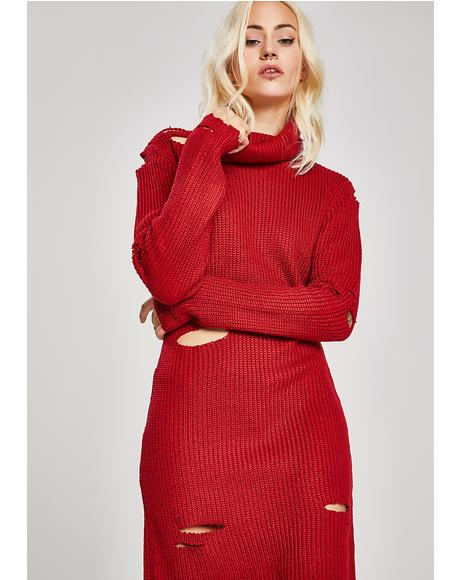 Caught Slippin' Sweater Dress