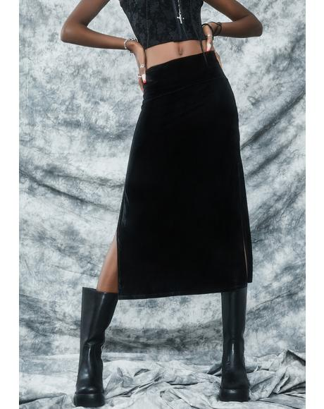 Secret Incantation Midi Skirt