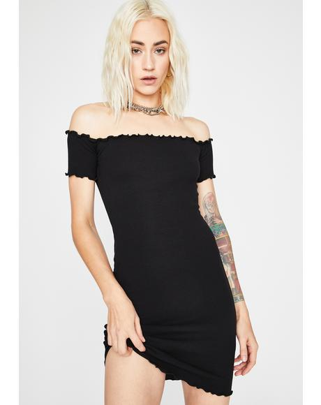 Crush Material Off The Shoulder Dress