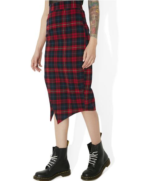 Jett Red Plaid Skirt