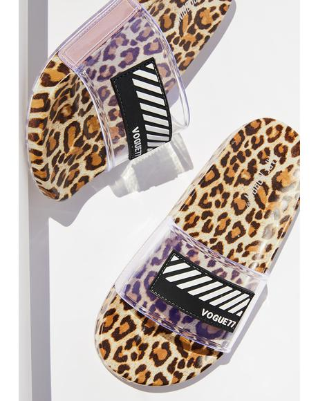 Fierce Fashionista Sandal Slides