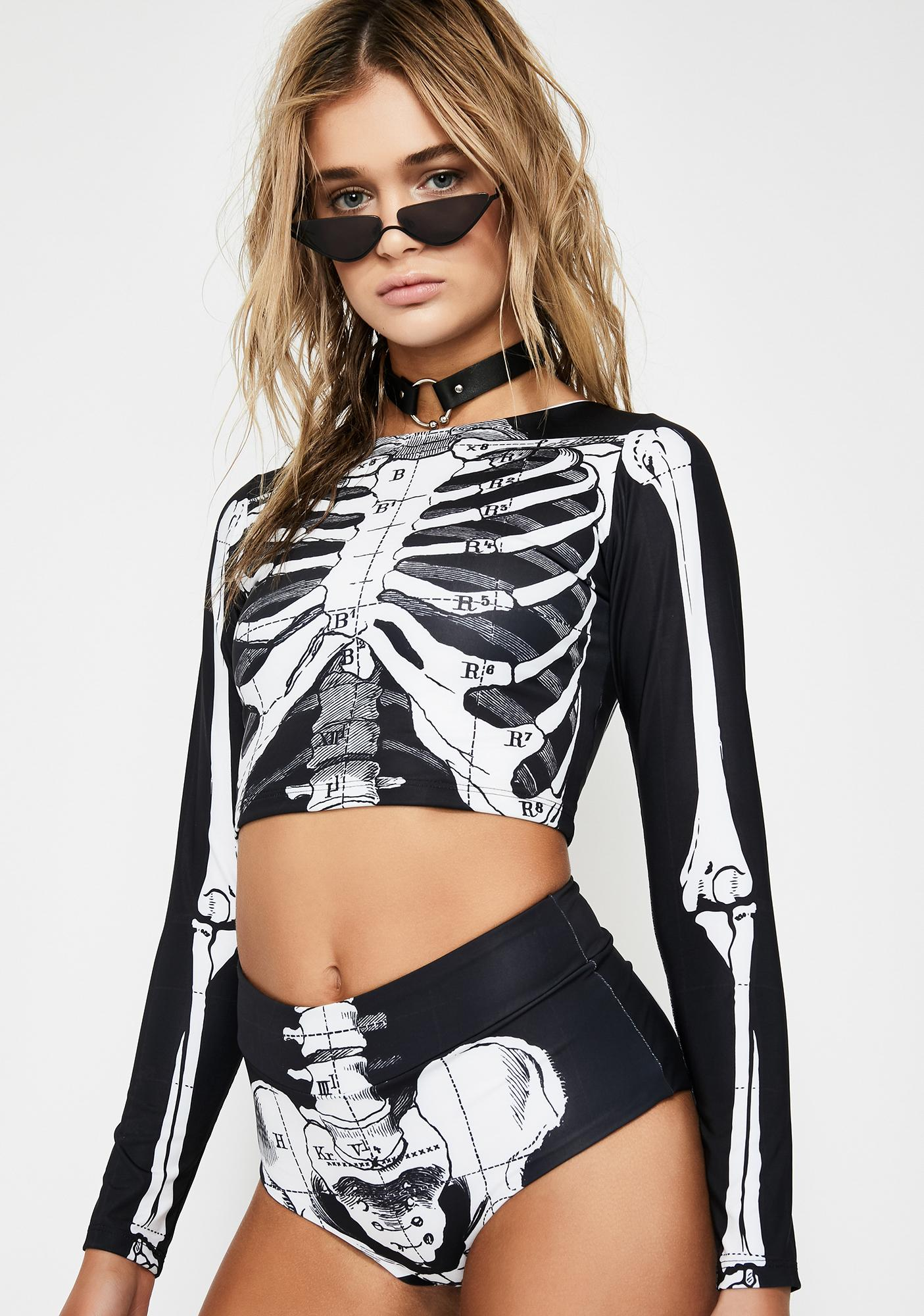 Towers Swimwear Skeleton Bikini Set