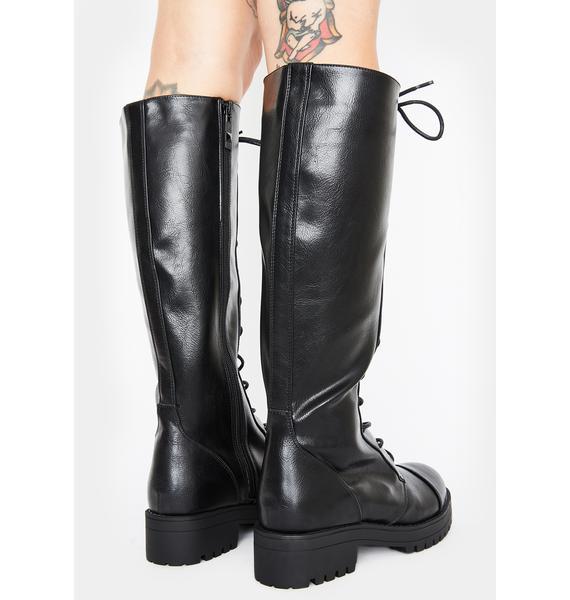 Devilish Delinquent Knee High Boots