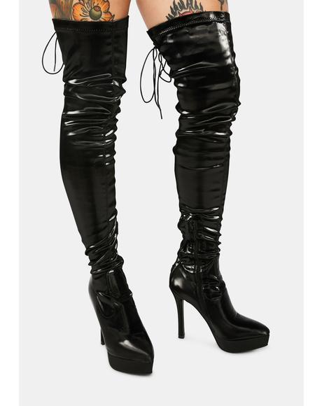 Cupid's Secret Stretch Thigh High Platform Boots