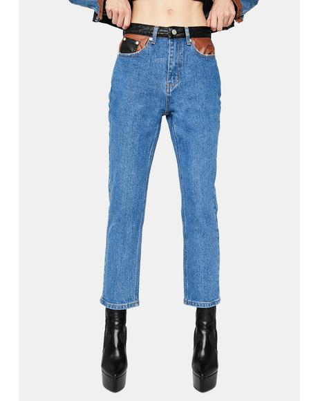 Tough Luck Babe Denim Straight Leg Jeans