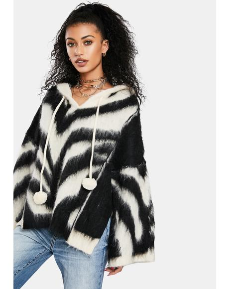 Wild Winter Poncho Hoodie