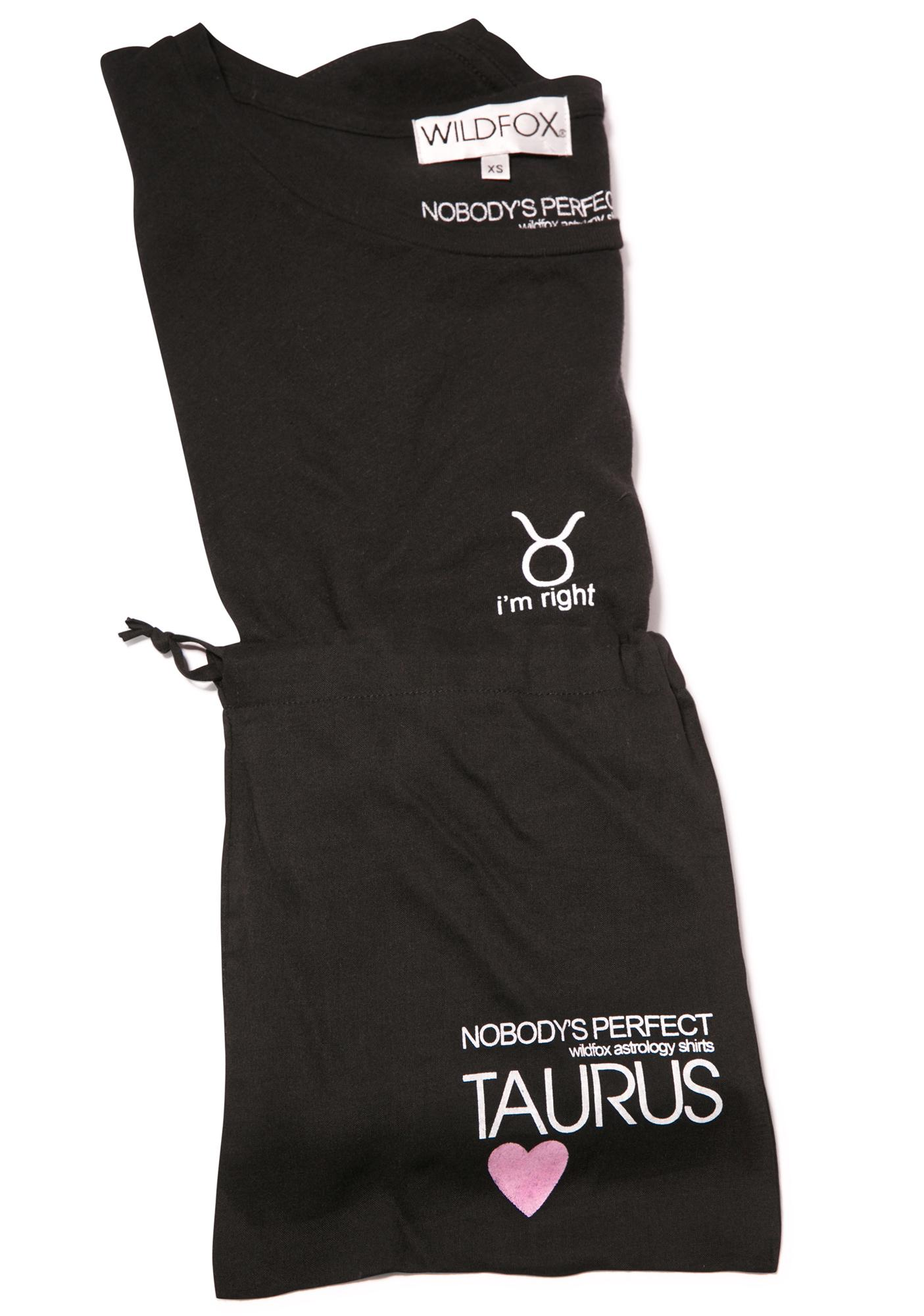 Wildfox Couture Taurus Astrology Boy Tee