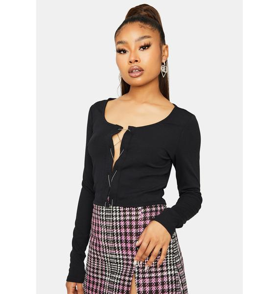 Other Side Of Me Lace Up Crop Top