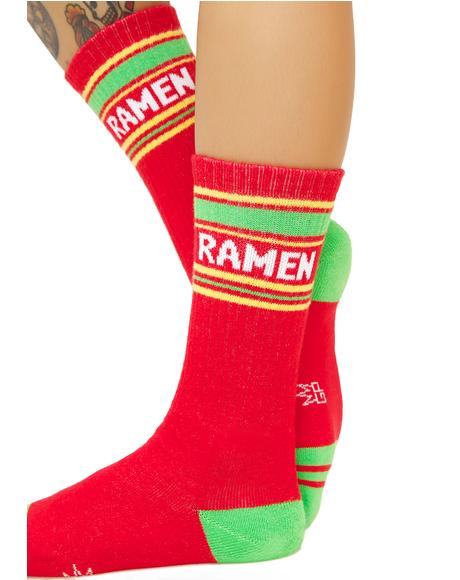 Ramen Athletic Crew Socks