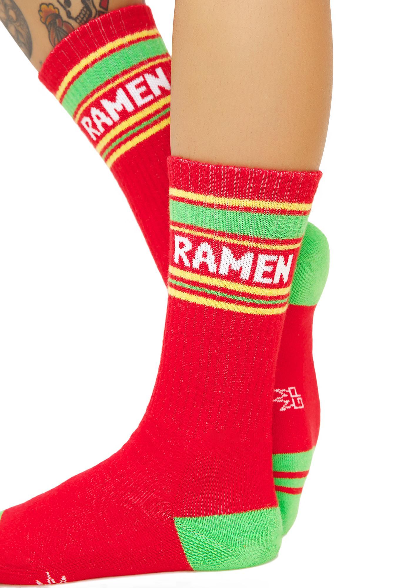 Gumball Poodle Ramen Athletic Crew Socks
