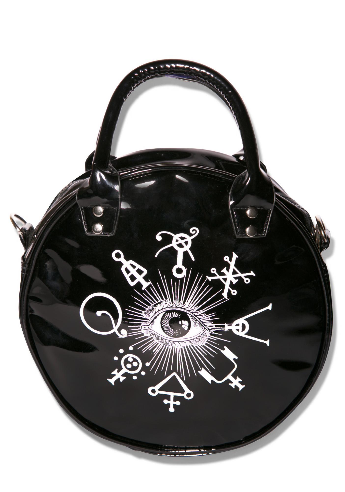 Kreepsville 666 Black Cat Eyeball Bag