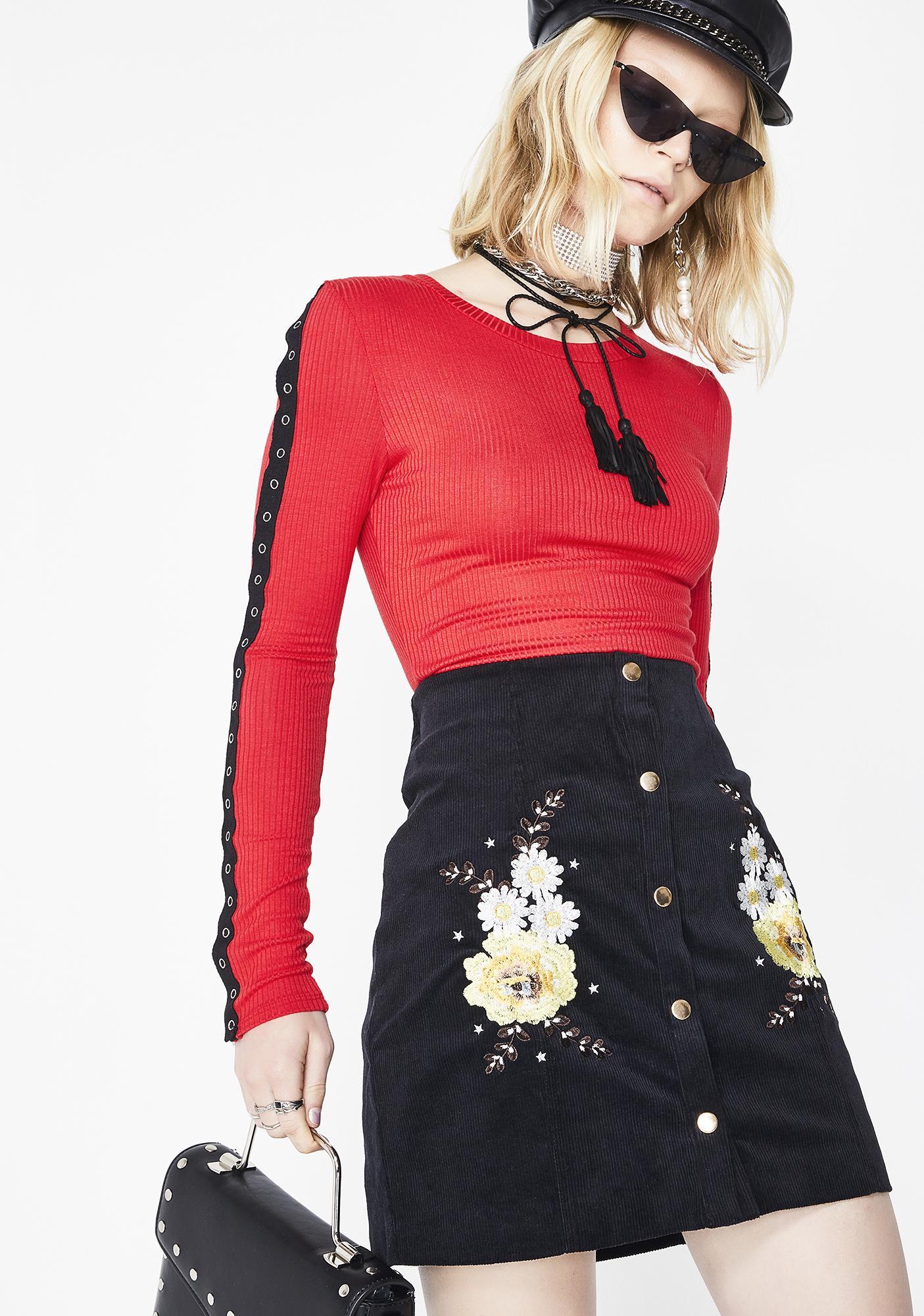 Glamorous Wanderlust Embroidered Skirt