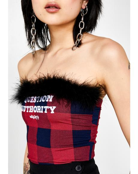 Question Authority Tube Top