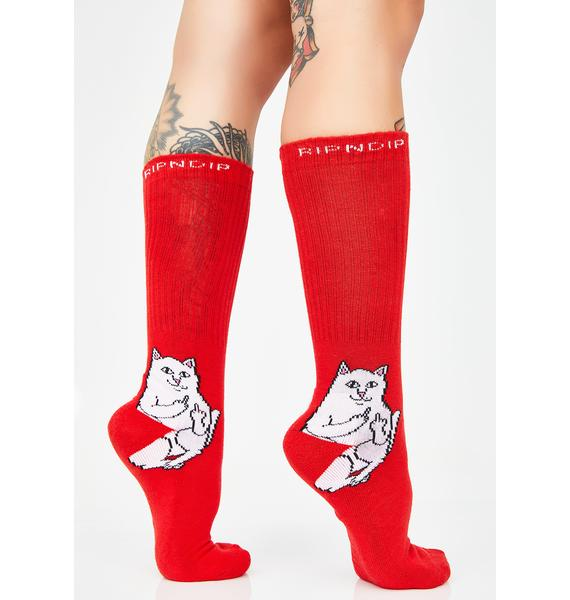 RIPNDIP Lit Lord Nermal Socks