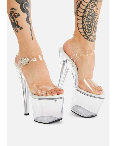 Treasure Fillable Clear Heels
