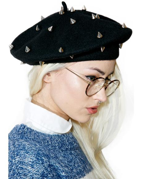 Spiked Mademoiselle Beret