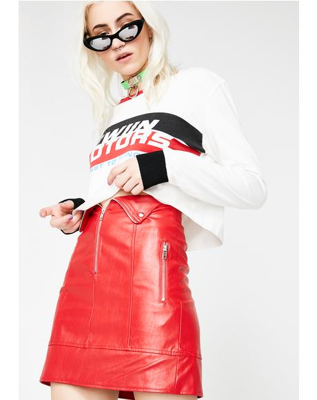 Overtake Biker Skirt