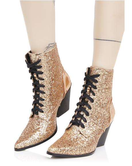 Good Witch Lace-Up Booties