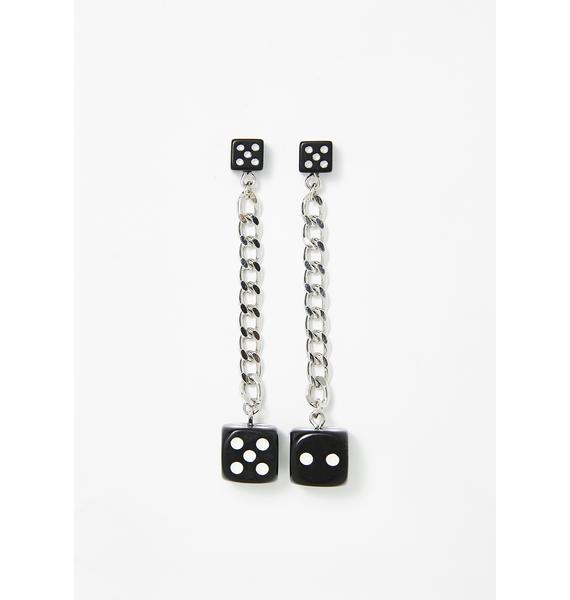 Party Over Here Dice Earrings