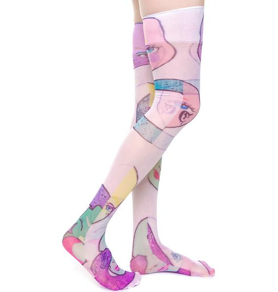 Coveted Society MAMA! Dolls Sheer Knee High Socks