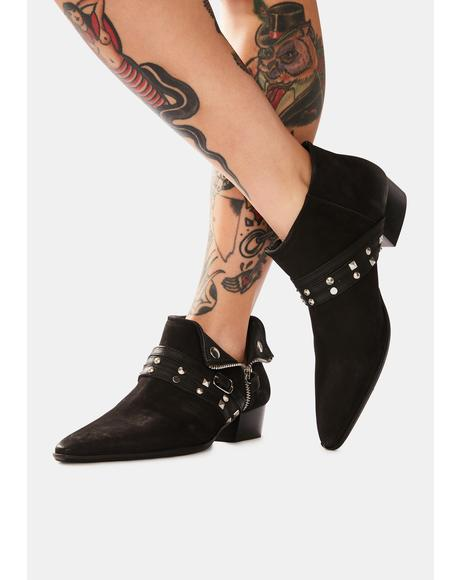 Chesa Suede Low Ankle Boots