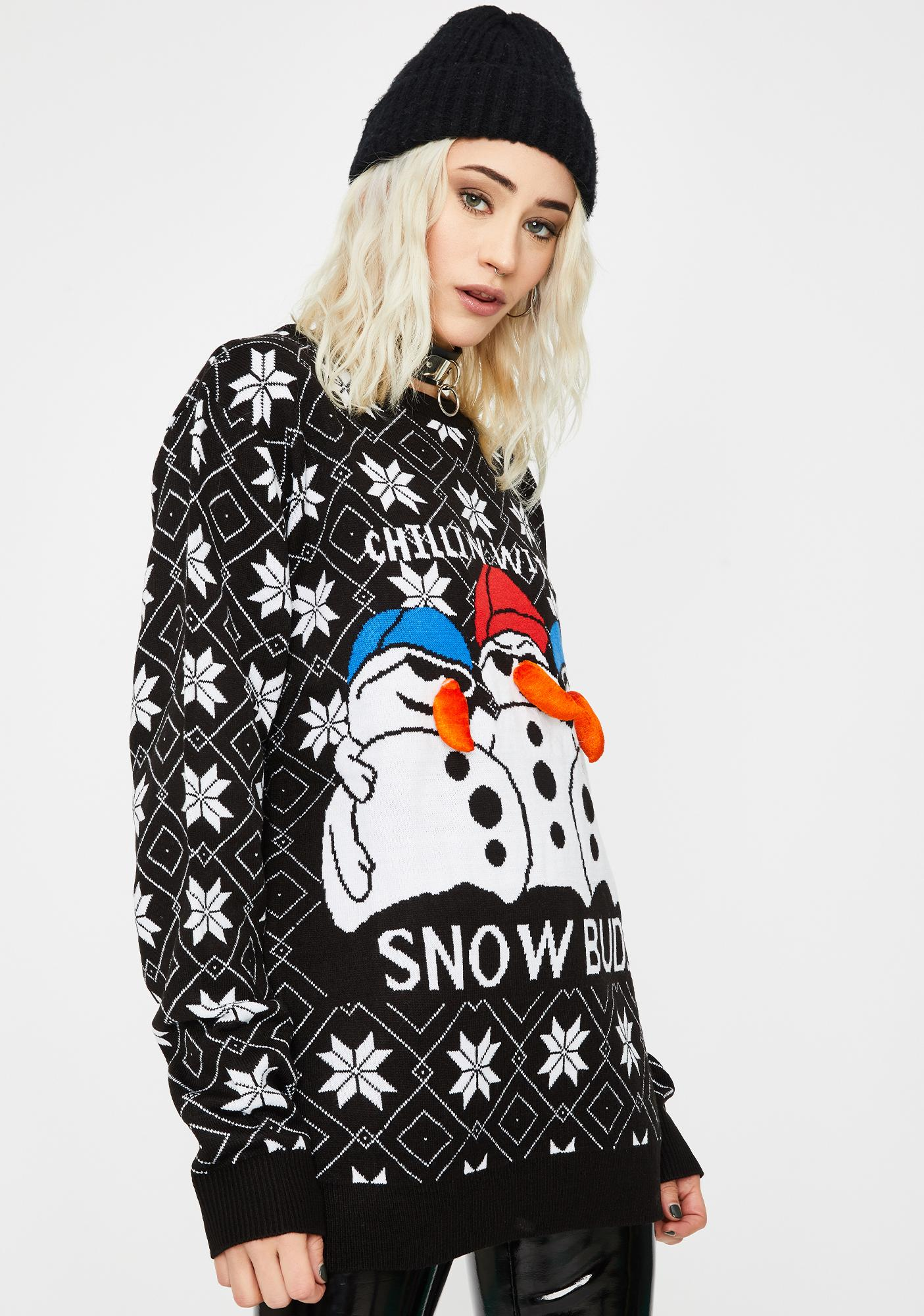 Snow Buds Holiday Sweater