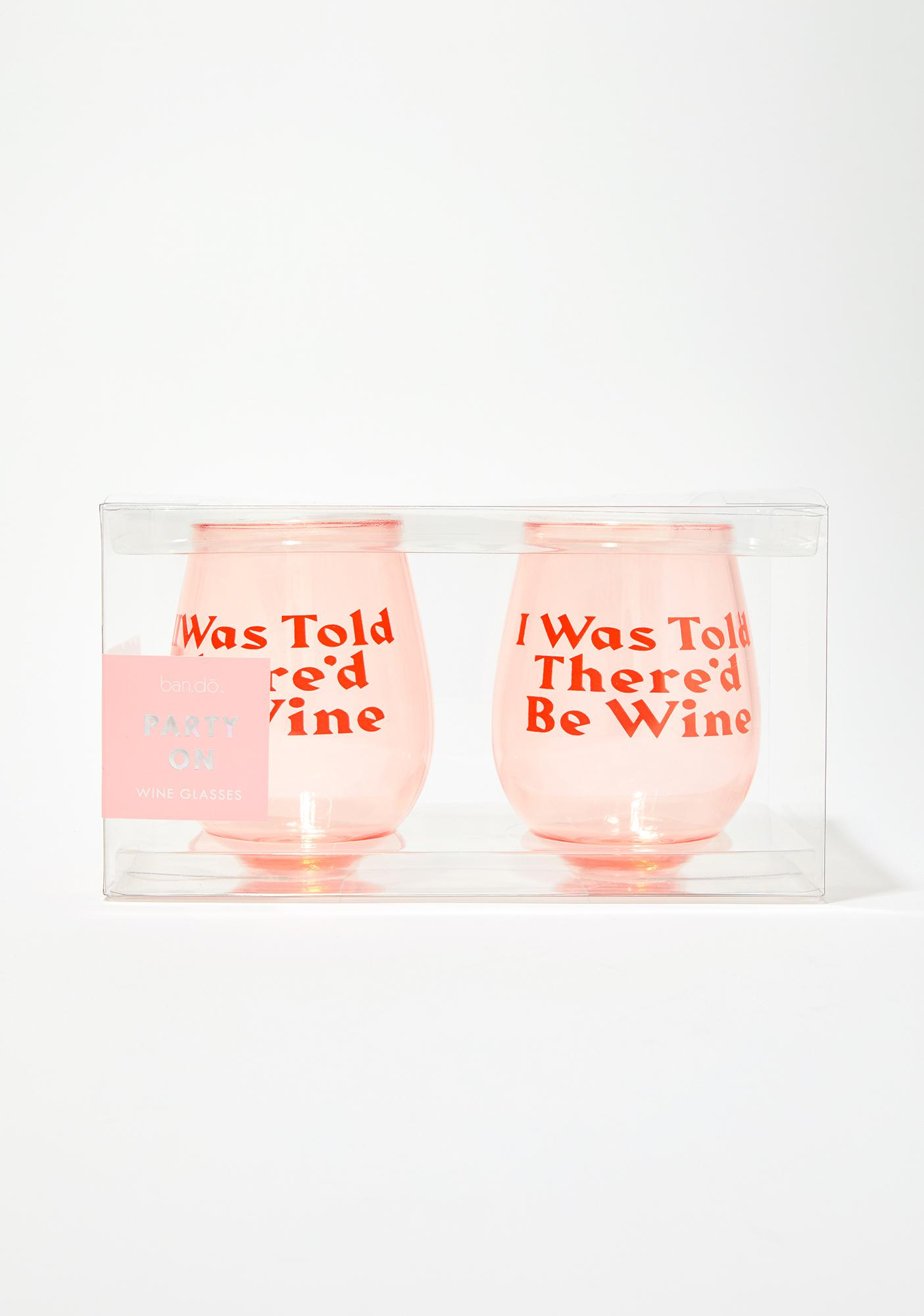 band.do Party On Wine Glass Set