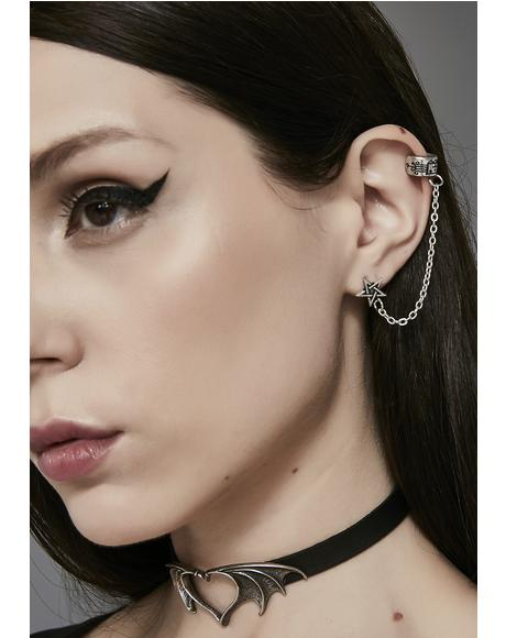 Enchanted Look Pentagram Ear Cuff