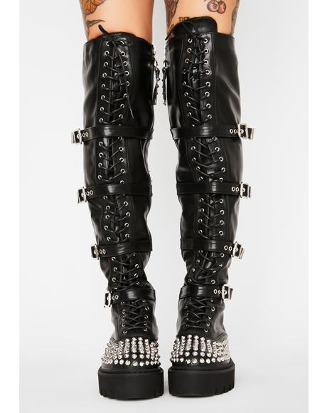 No Stylist Knee High Boots