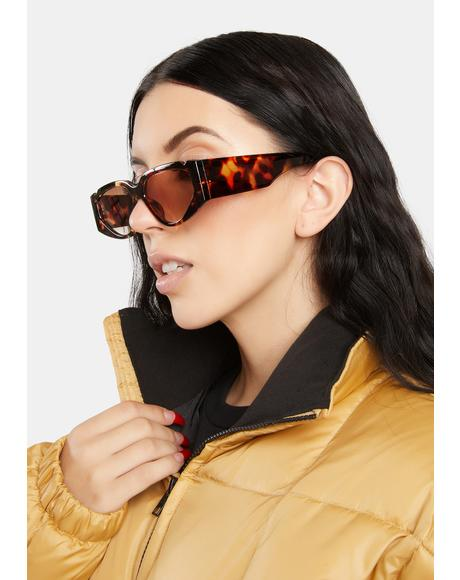 Amber It Girl Squad Tortoiseshell Sunglasses